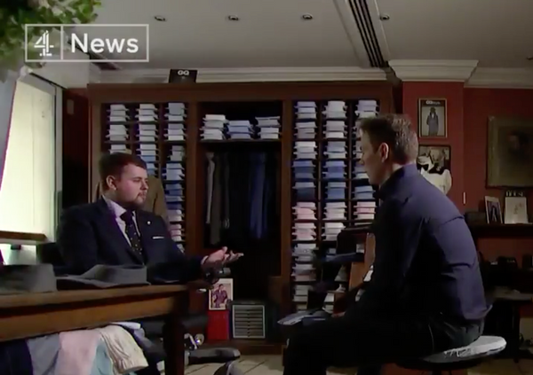 """The West End tailor who makes suits for wounded soldiers."" - Channel 4 News"