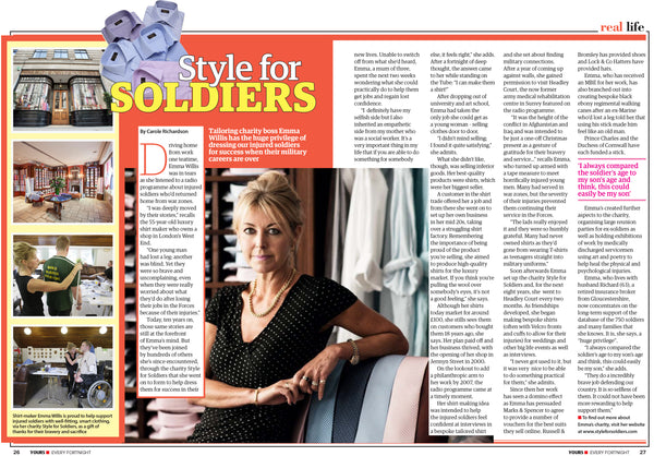 Style for Soldiers - Yours Magazine