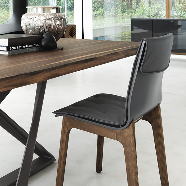 Alfa Side Chair Bontempi Casa Contemporary Black