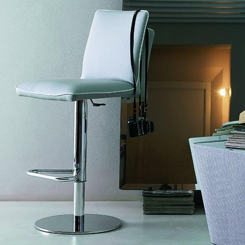 Nata Barstool, Adjustable Height, 16.5-in x 33.5-in