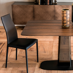 Linus Wood Rectangular Dining Table