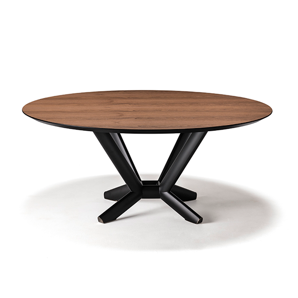 Planer Round Wood Dining Table