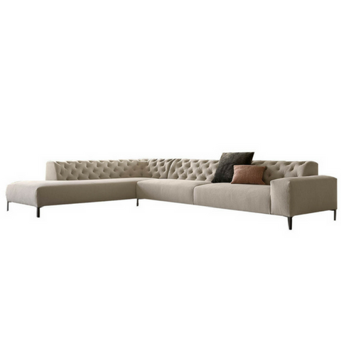 Boston Left Facing Sectional Tufted Back