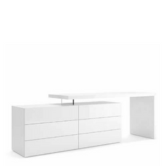 Domino Vanity/Desk and People Dresser, Lacquered