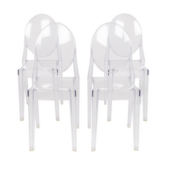 Victoria Ghost Side Chair (Set of 4)