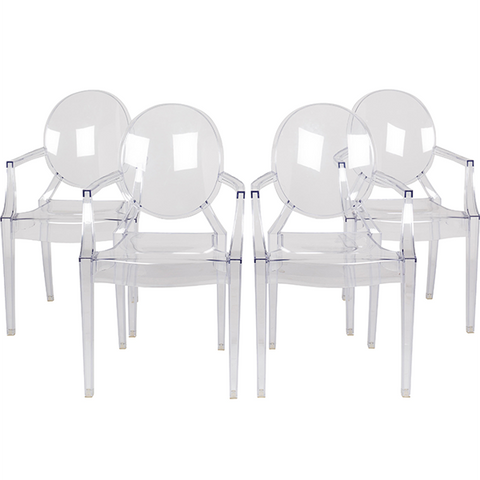 Louis Ghost Armchair (Set of 4)