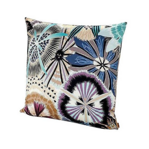 "Passiflora Multi Color cushion 24"" x 24"""