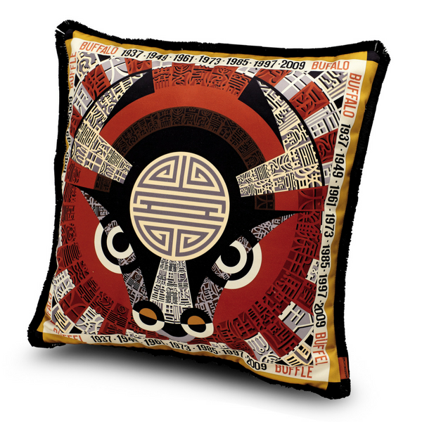 "Oroscopo Buffalo cushion 16"" x 16"""