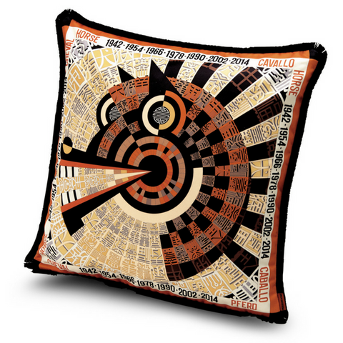 "Oroscopo Cavallo cushion 16"" x 16"""