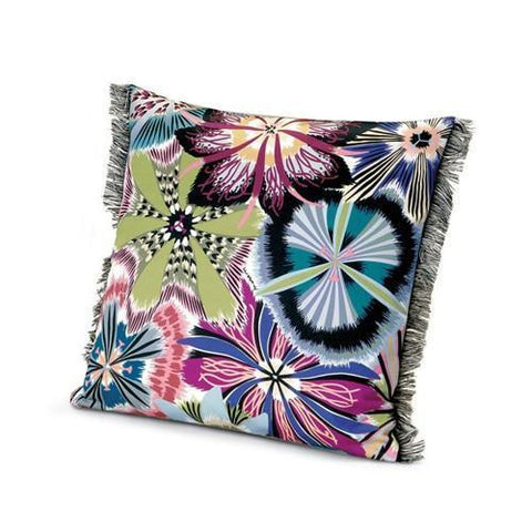 "Passiflora Indigo cushion 16"" x 16"""