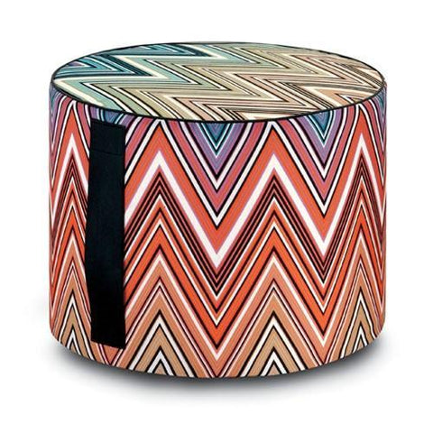Kew Outdoor Cylinder Pouf, Multicolor