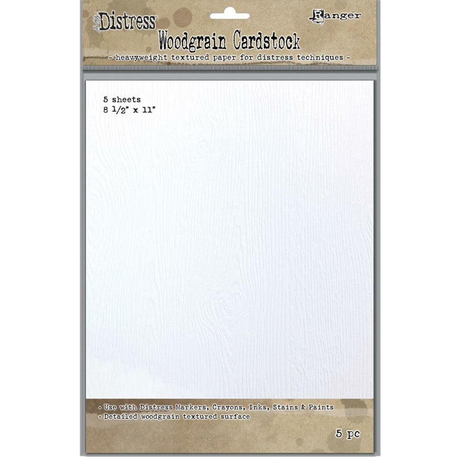 Tim Holtz Distress Woodgrain Paper 5 Sheets