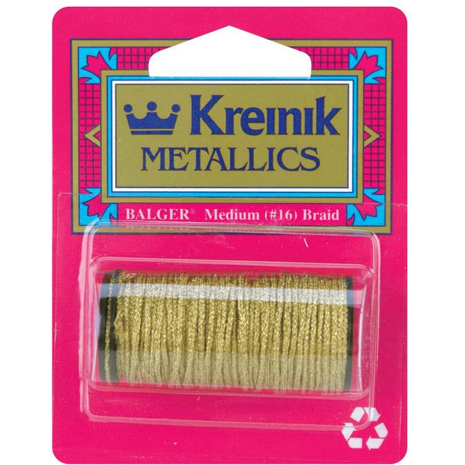 Load image into Gallery viewer, Kreinik | Metallic Cord Medium Braid 11yds | 002C 10M Gold