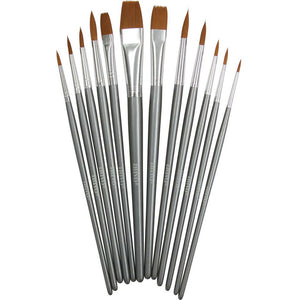 Nuvo Nylon Multi Media Brushes, Set of 12