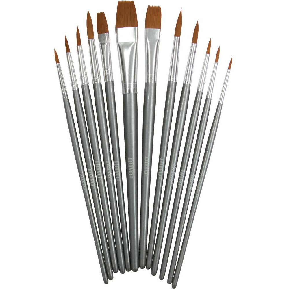 Load image into Gallery viewer, Nuvo | Nylon Multi Media Brushes | Set of 12