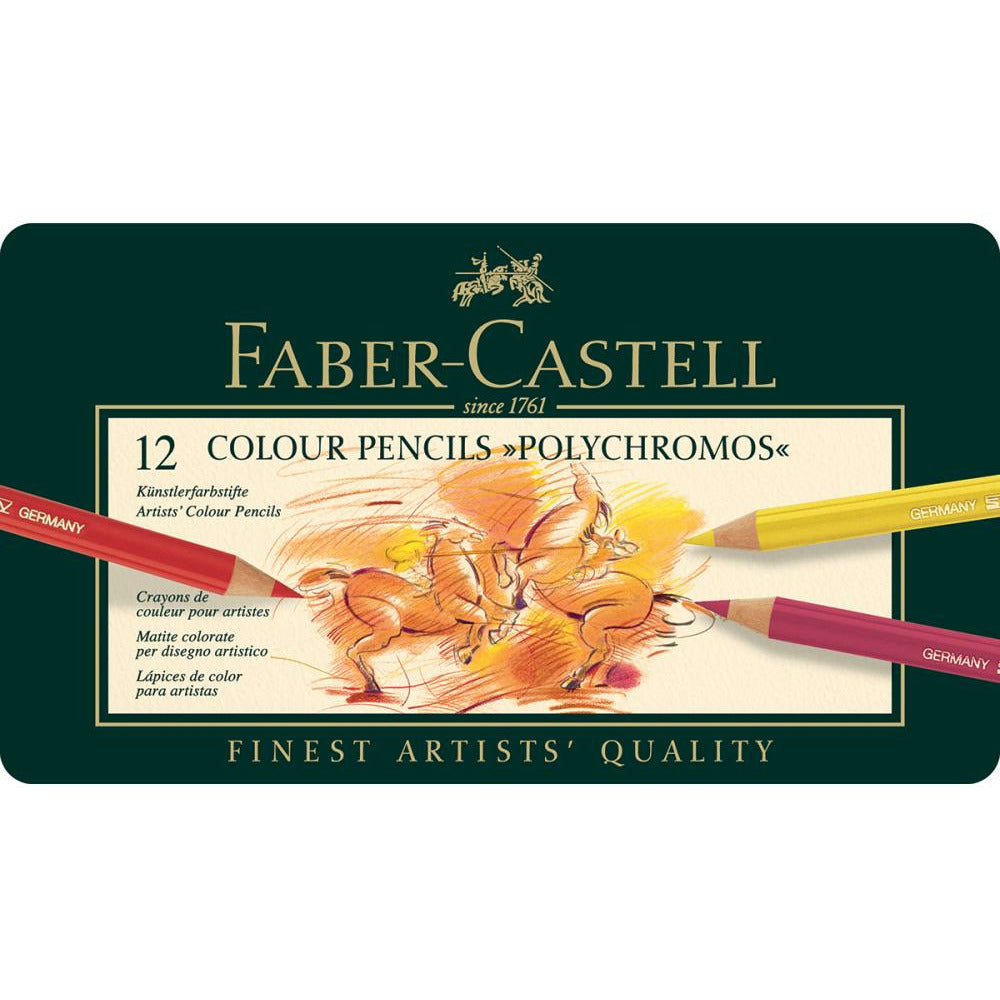 Load image into Gallery viewer, Faber-Castell | Polychromos Color Pencil Set, Metal Tin 12pc