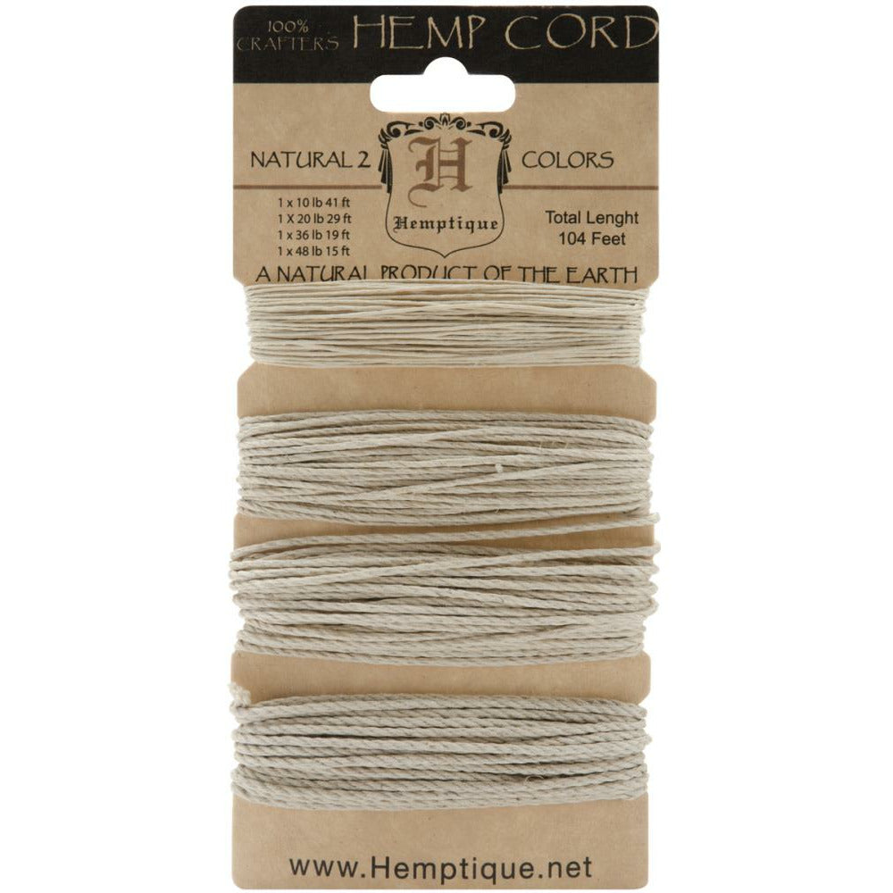 Load image into Gallery viewer, Hemp Cord Assorted Naturals Set - 4 Sizes | 104 feet
