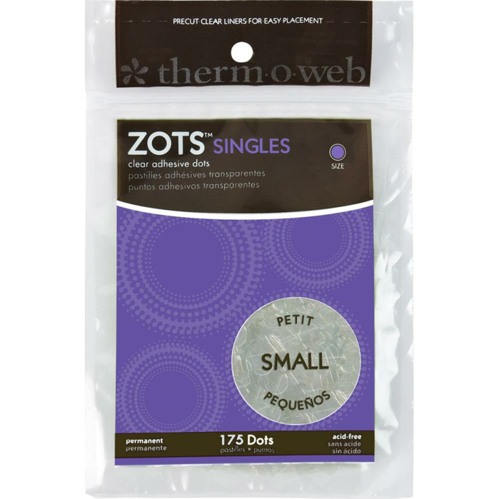 "Load image into Gallery viewer, Zots Singles | Small Clear Adhesive Dots | 3/16"" 175 pk"