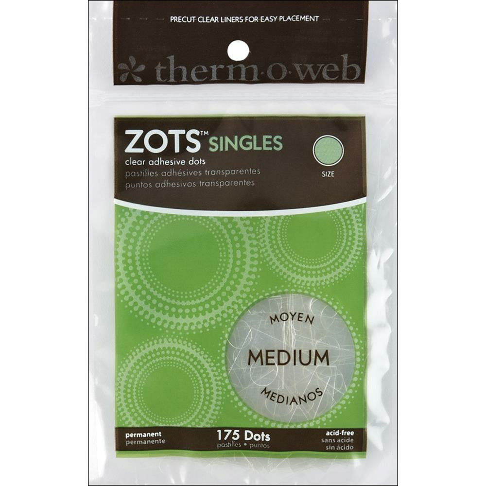 "Load image into Gallery viewer, Zots Singles | Medium Clear Adhesive Dots | 3/8"" 175 pk"