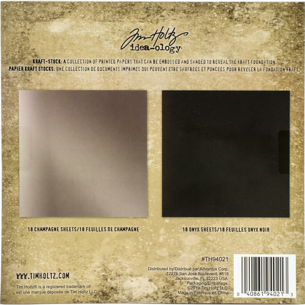 "Load image into Gallery viewer, Tim Holtz | Idea-Ology Kraft Stock Pad | 8""X8"" 36/Pkg 
