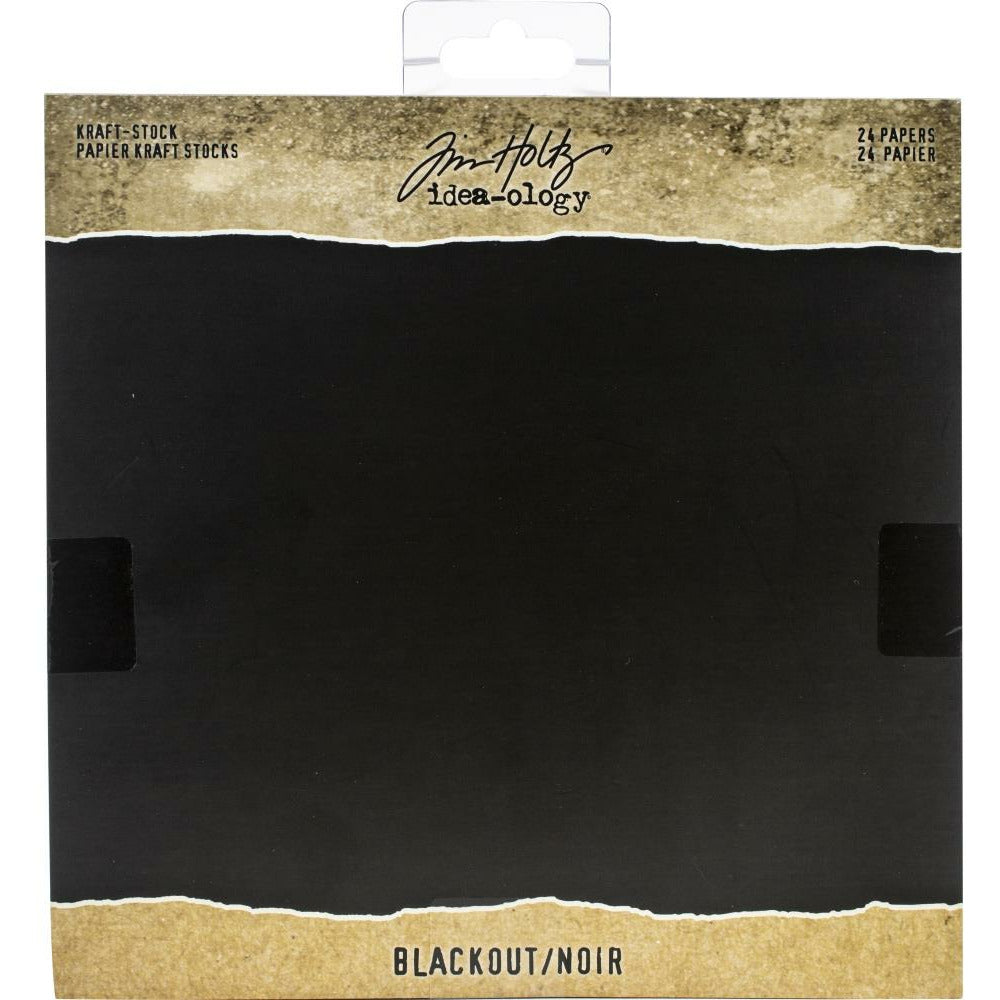 "Load image into Gallery viewer, Blackout | Tim Holtz Idea-Ology Kraft Stock Pad | 8""X8"" 24/Pkg"