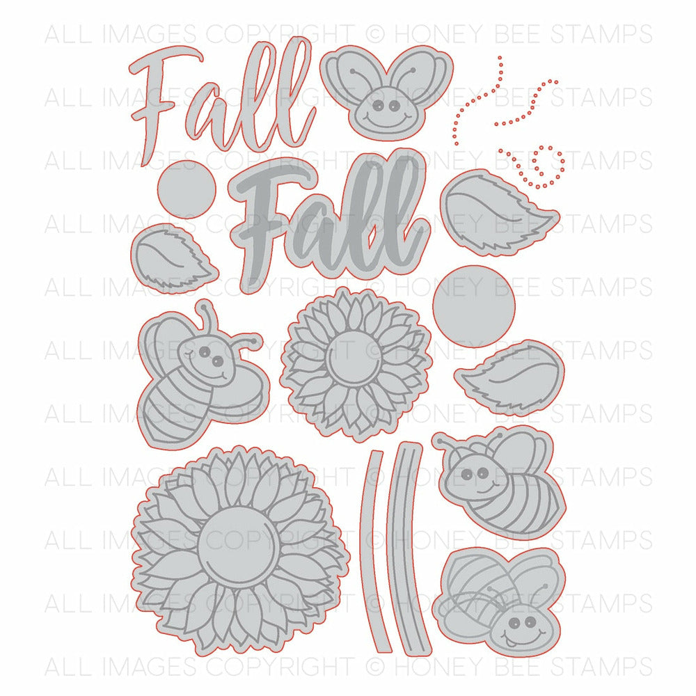 Load image into Gallery viewer, Happy Fall Y'all | Honey Cuts | Steel Craft Dies