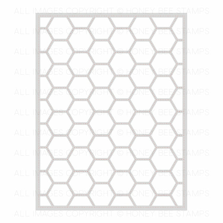 Hexagon Cover Plate Stipple | Honey Cuts | Steel Craft Dies