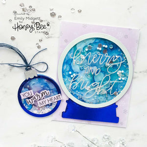 Globe & Ornament Shaker Card | Honey Cuts | Steel Craft Dies