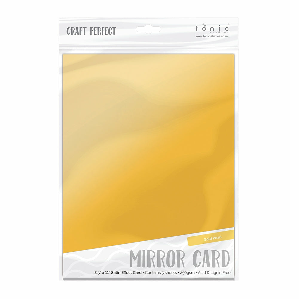 Load image into Gallery viewer, Craft Perfect | Mirror Card | 8.5 x 11 5/pkg | Gold Pearl