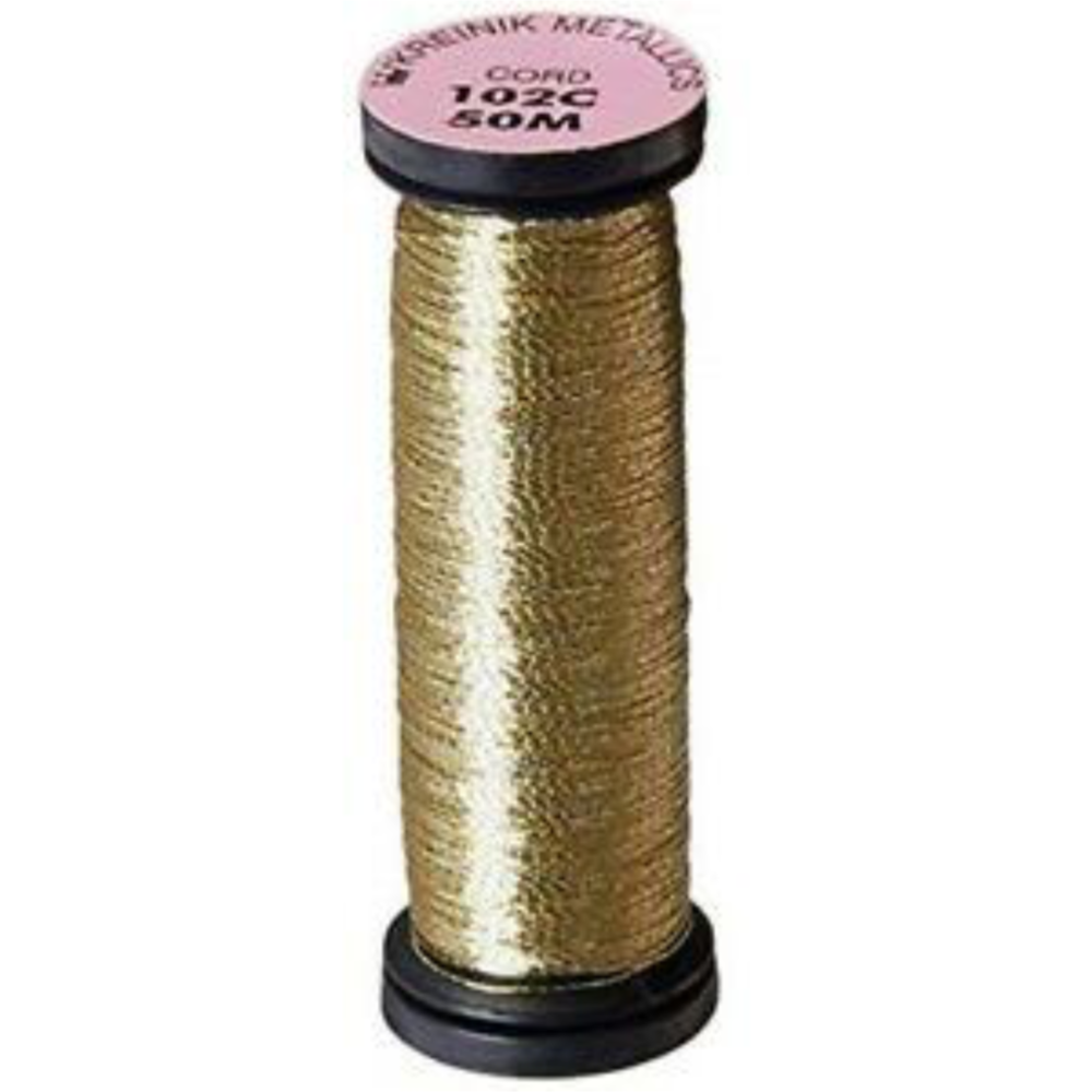 Load image into Gallery viewer, Kreinik | Metallic Cord 1-Ply 55yd | 102C Vatican Gold