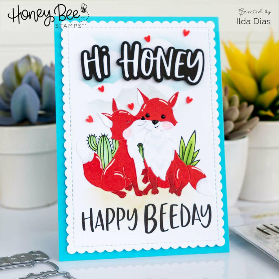 Scallop A2 Card Frames | Honey Cuts