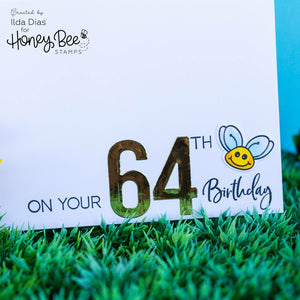 Bee Bold Numeric | Honey Cuts
