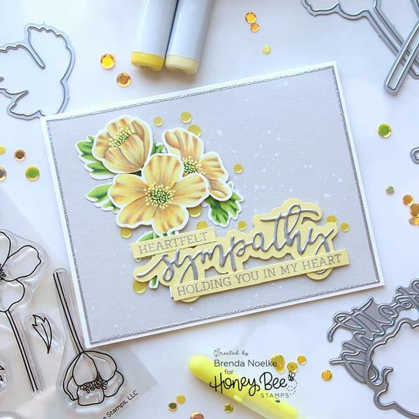With Sympathy | 4x8 Stamp Set