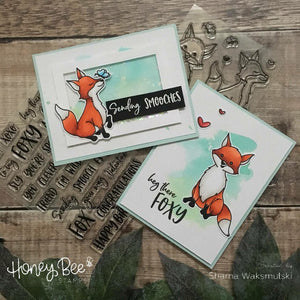 Foxy Sentiments | 4x6 Stamp Set