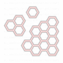 Load image into Gallery viewer, Hexagon Bunches | Honey Cuts | Steel Craft Dies