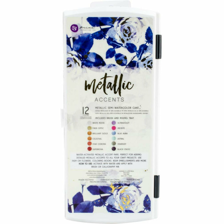 Prima Metallic Accents Semi Watercolor Paint Set