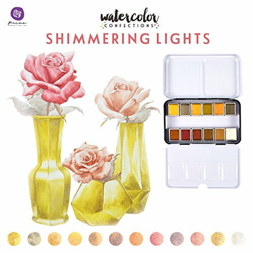 Shimmering Lights | Prima Watercolor Confections Watercolor Pans 12/Pkg
