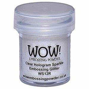 WOW! Embossing Glitter, Clear Hologram Sparkle