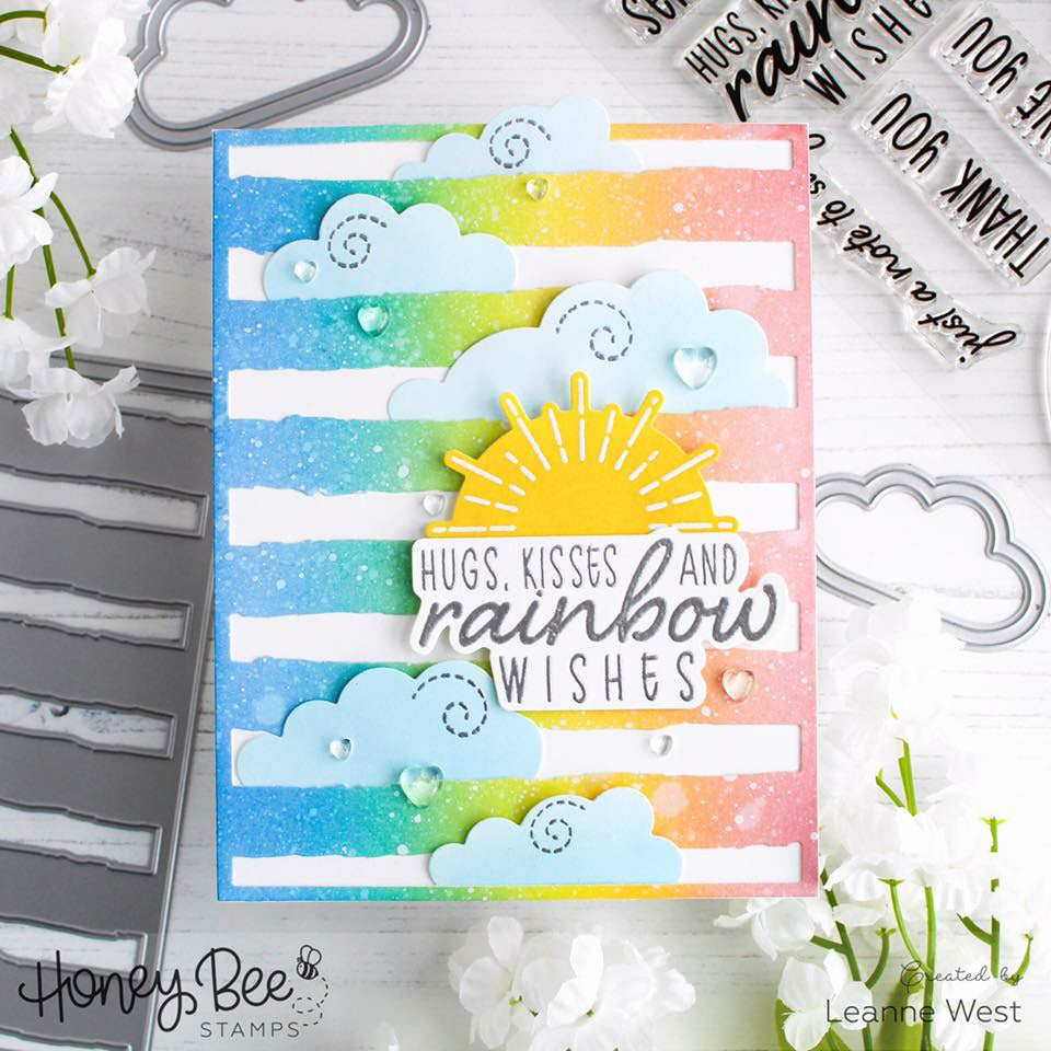 Load image into Gallery viewer, Rainbow Wishes | 4x8 Stamp Set