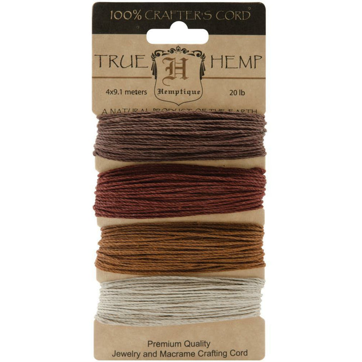 Hemp Cord - Set of 4 Bronze