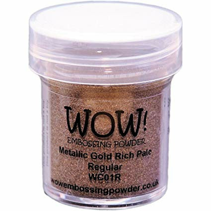 Load image into Gallery viewer, WOW! Embossing Powder | Metallic Gold Rich Pale