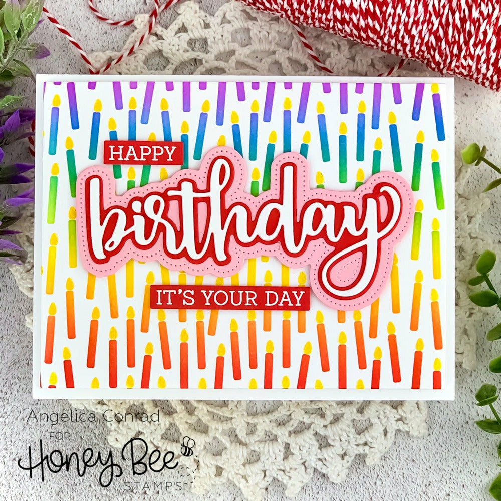 Load image into Gallery viewer, Birthday Candle | Background Stencils | Set of 3