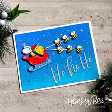 Load image into Gallery viewer, Santa Bee | 2x2 Stamp Set