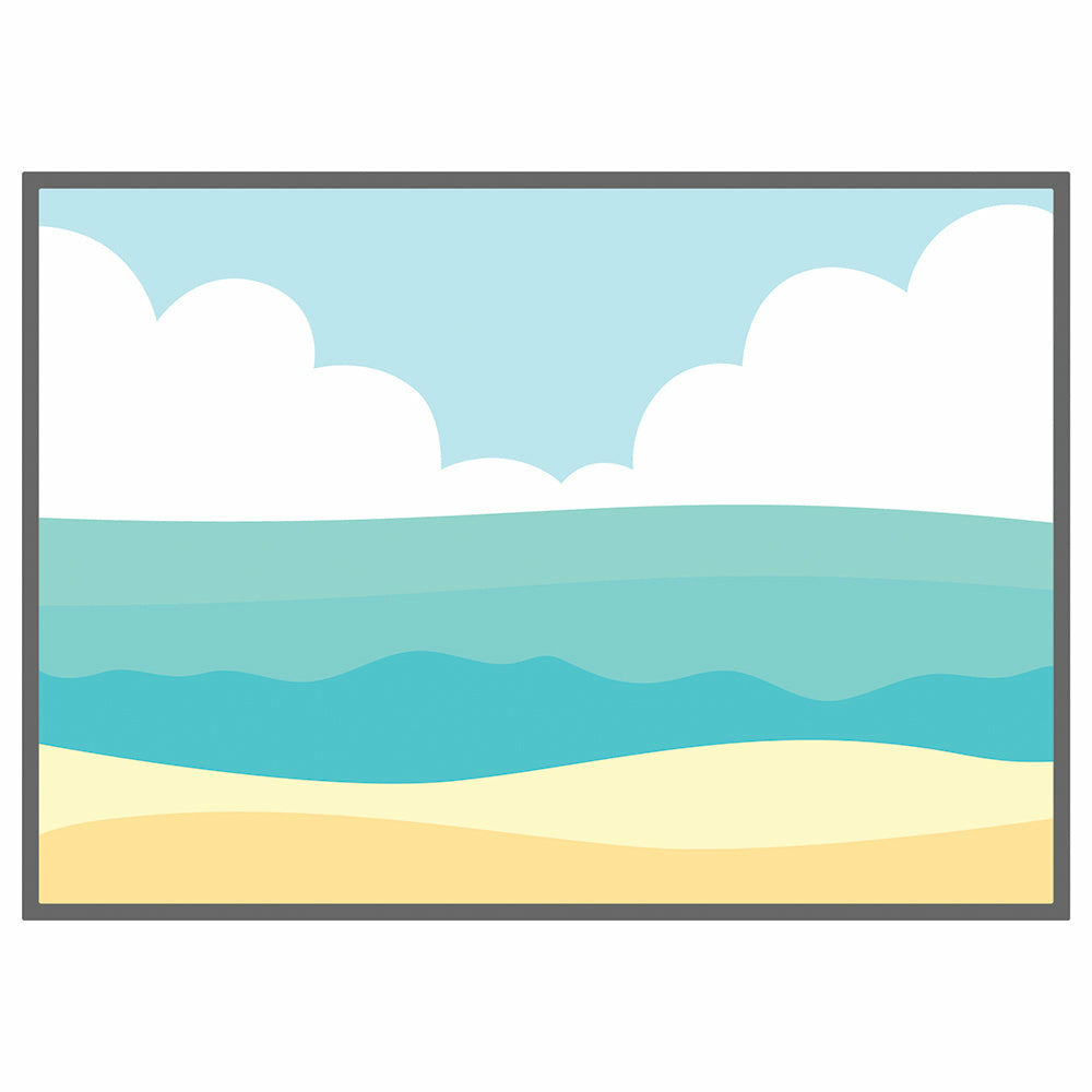 Load image into Gallery viewer, Beach Scene A7 Cover Plate | Honey Cuts
