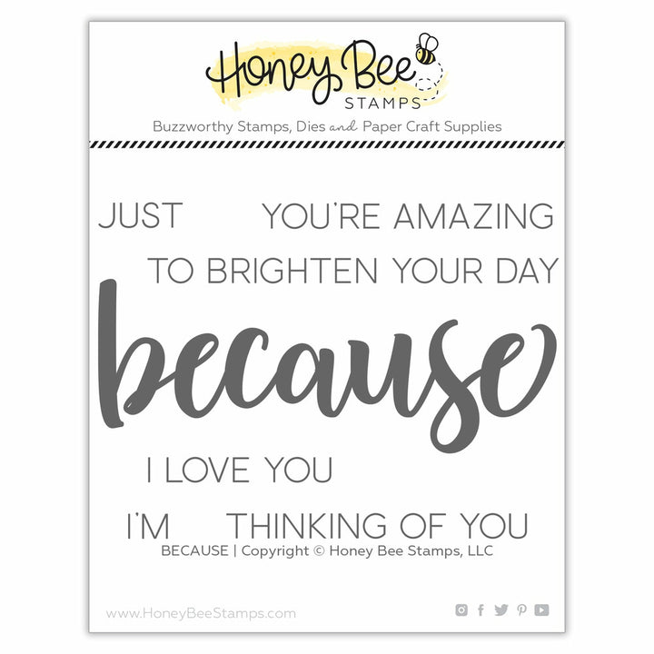 Honey Bee Stamps BECAUSE Stamp Set