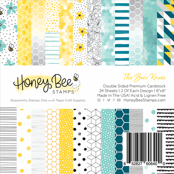 Load image into Gallery viewer, The Bee's Knees | 6x6 Paper Pad | 24 Double Sided Sheets