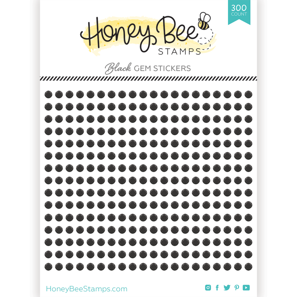 Load image into Gallery viewer, Gem Stickers | 300 Count | Black