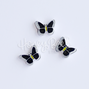 Black Butterflies | Set of 3 Shaker Charms