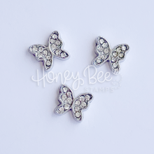 Load image into Gallery viewer, Crystal Butterflies | Set of 3 Shaker Charms