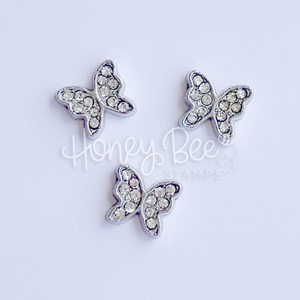 Crystal Butterflies | Set of 3 Shaker Charms